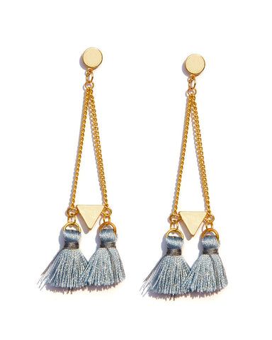 Oblong Tassel Earrings