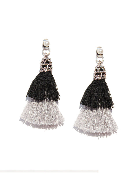 Ombre Tassel Drop Earrings