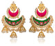 Joelle Red Jhumka Earrings