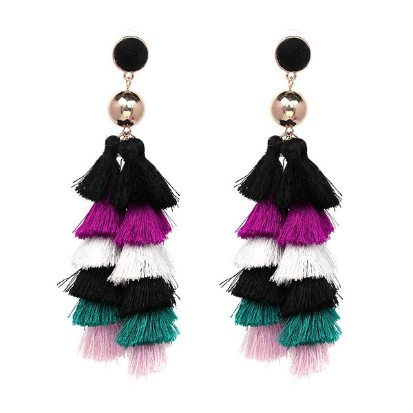 Mimi Fringe Tassel Earrings