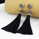 Marissa Black Tassel Earrings