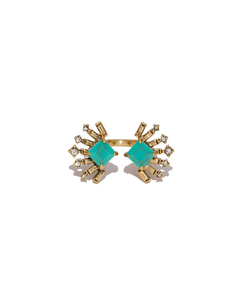 Turquoise Bow Ring