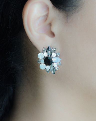 Clouded Crystal Stud Earrings