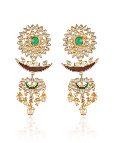 Ayanna Kundan Dangler Earrings