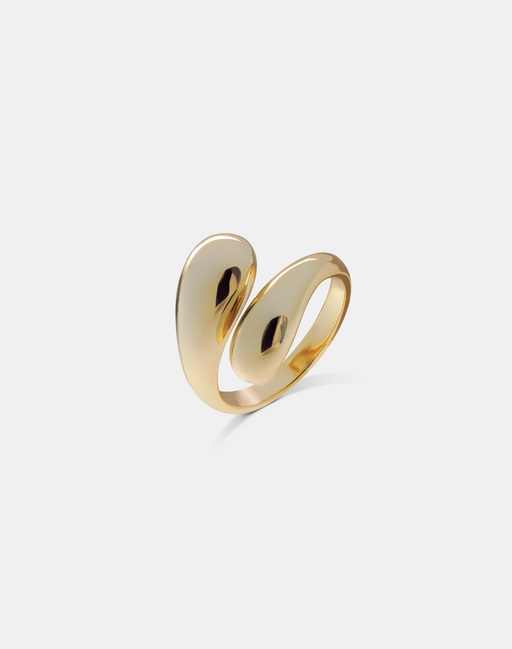 Double Drop ring gold-Guldringe-andcopenhagen