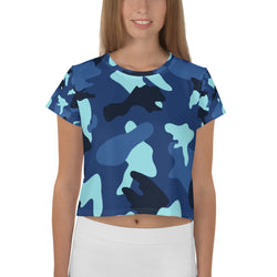 Camo All Over Crop Top