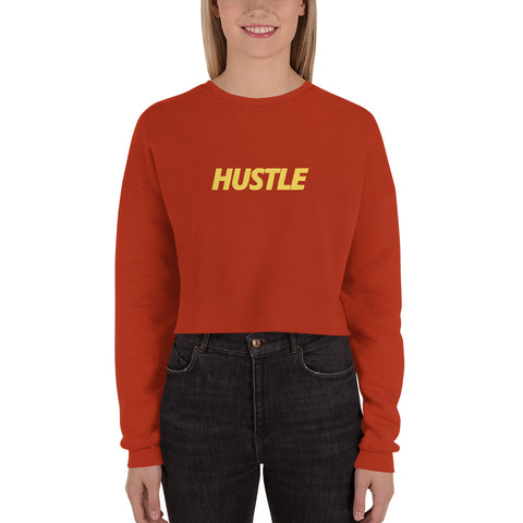 HUSTLE Crop Sweatshirt