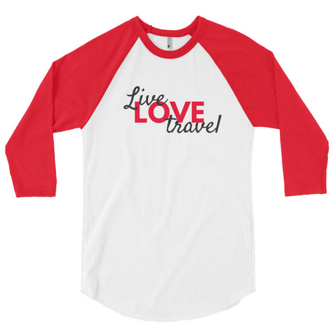 LIVE LOVE TRAVEL - Classic Baseball Raglan
