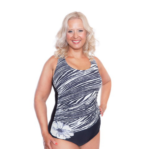 ONE PIECE SCOOP NECK MASTECTOMY SWIMWEAR