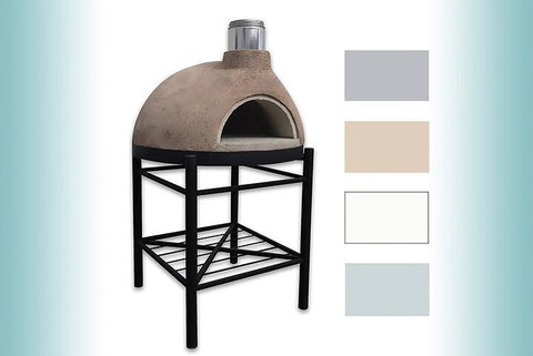CALIFORNO PIZZA OVEN G-280-FULLY ASSEMBLED STUCCO FINISH