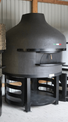 Verona-420 NEAPOLITAN-2 shape oven with metal stand / WOOD/GAS COMBO