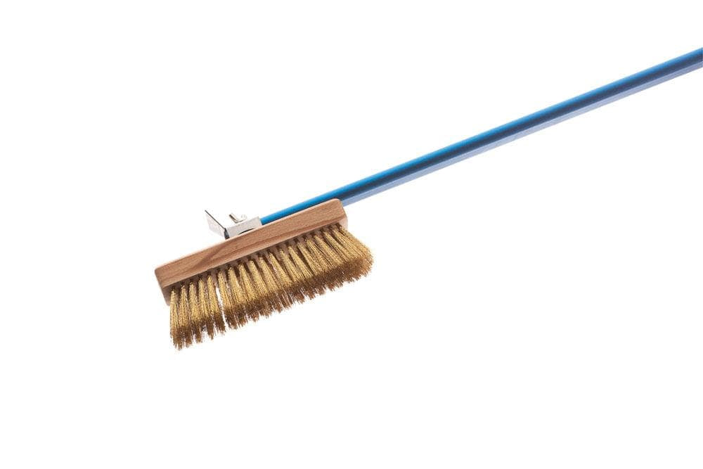 "Adjustable Brass Brush with 59"" Handle"