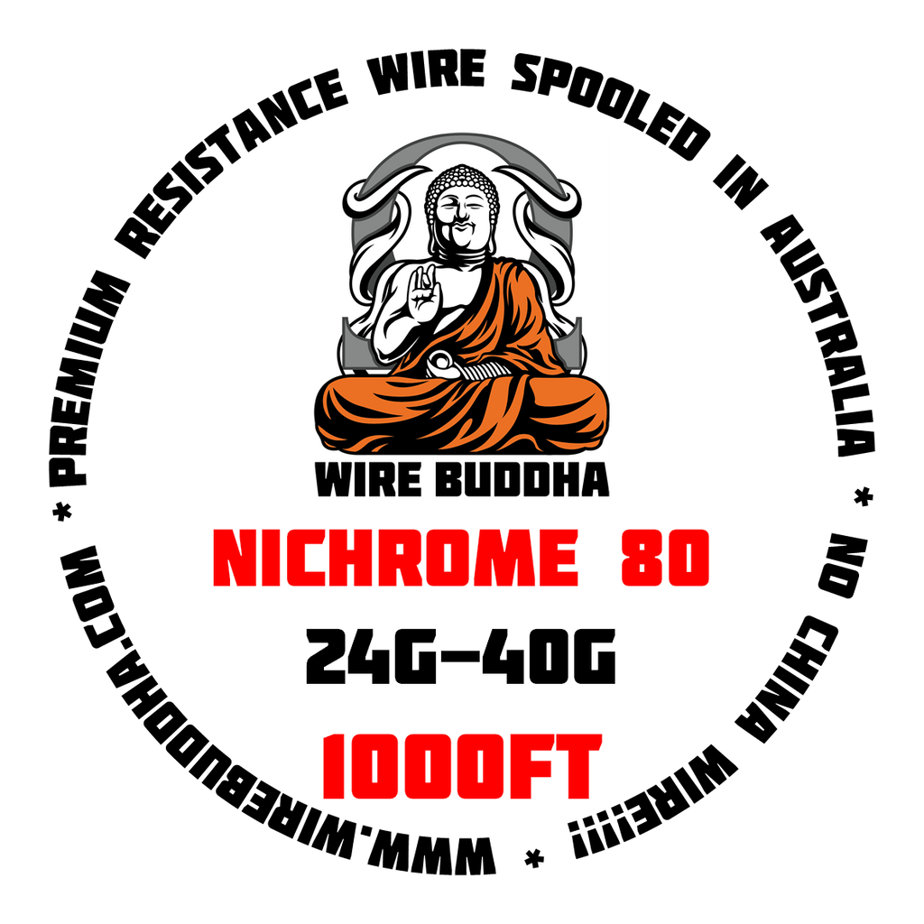 Nichrome 80 1000FT Spool - Wire Buddha - CLOUD REVOLUTION
