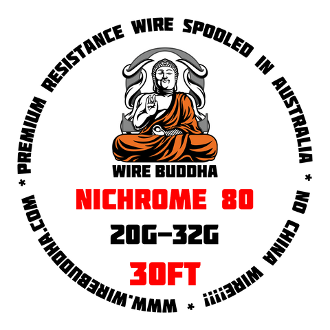 Nichrome 80 30FT Spool - Wire Buddha