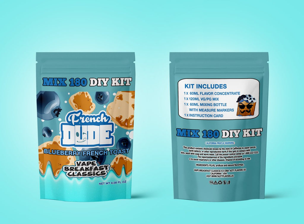 French Dude - Blueberry French Toast | Mix 180 DIY Kit| - CLOUD REVOLUTION