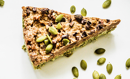 Raw Pumpkin Seed Protein and Chocolate Pie