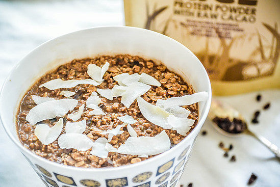 Blissful Brown Rice and Raw Cacao Overnight Oats