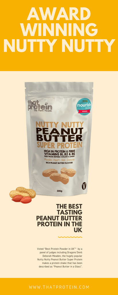 that protein nutty nutty super protein peanut butter flavour