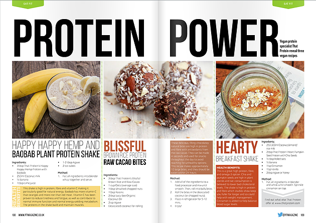 Vegan Protein Recipes with PT Magazine