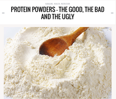Protein - the good, the bad and the ugly.