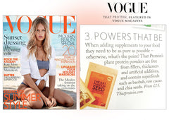 that protein featured in Vogue magazine.