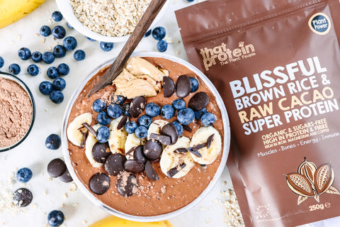 that protein chocolate porridge vegan plant based super protein