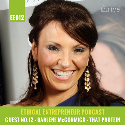 that protein founder interview with thrive magazine podcast
