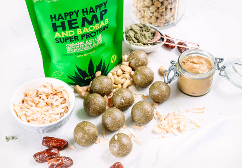 Happy Happy Hemp & Baobab Bliss balls