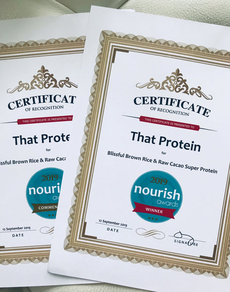 that protein Nourish Award Winners - vegan protein chocolate