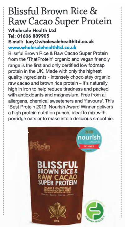 that protein featured in natural product news