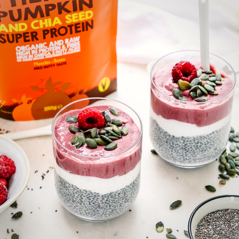 that protein pumpkin and chai Puddings
