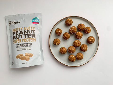 that protein peanut butter balls and nutty nutty peanut butter pouch