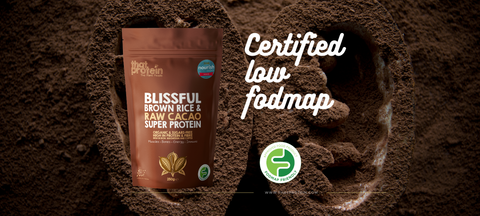 that protein blissful raw cacao Low Fodmap certified