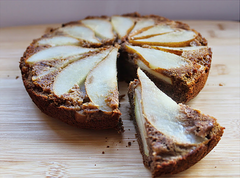 Chocolate & Pear Upside Down Cake.