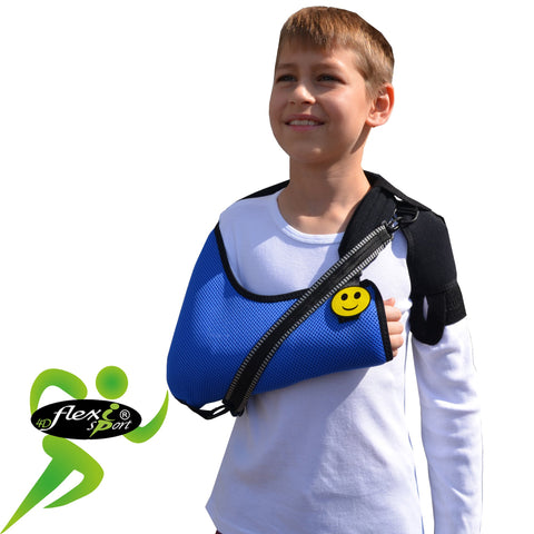Arm Sling CHILD Blue Deluxe ANTI NECKACHE by 4DflexiSPORT®