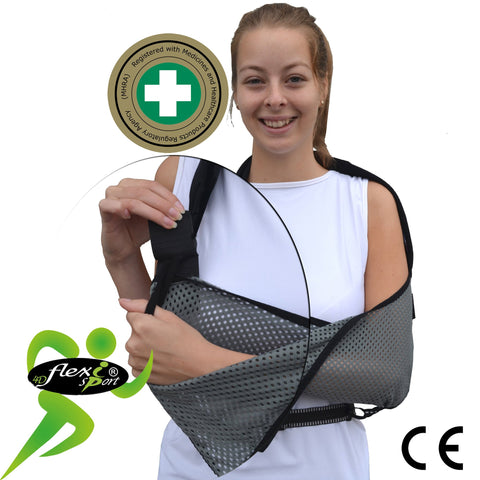Deep arm sling ULTRA COMFORT with waist-strap (ONE-SIZE)