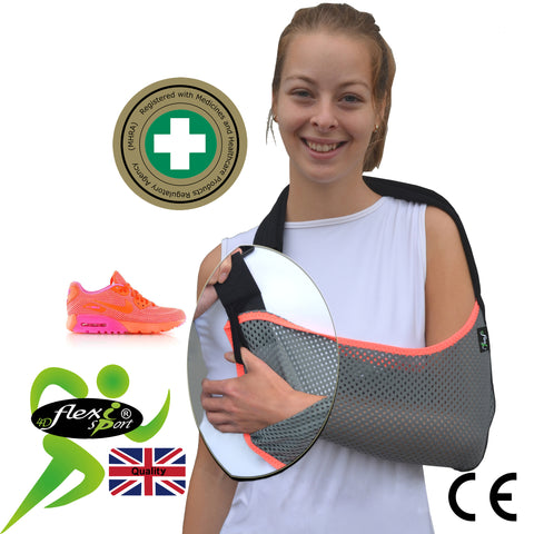 Arm Sling 'Traditional Basic' Velour SPORTY (ADULT 12yr-XL) by 4DflexiSPORT®