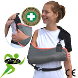 Arm Sling ADULT ANTI NECKACHE One-size, Grey/Coral Trim by 4DflexiSPORT®