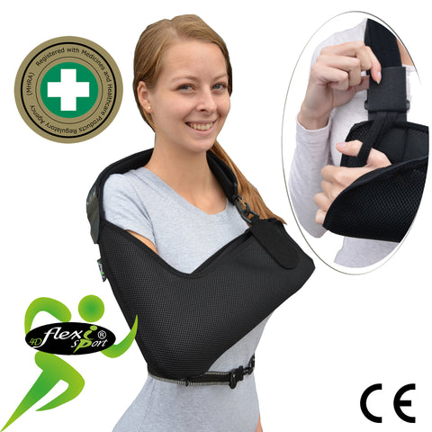 Arm Sling 'Ultra Comfort' Quilted/Colours X-DEEP (ADULT S,M,L) by 4DflexiSPORT®