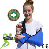 Blue Arm Sling ADULT REGULAR style by 4DflexiSPORT®