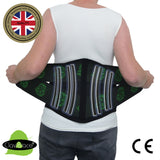 Lower Back Lumbar Belt MAXIMUM Support with ICE/HEAT (LEAF side-pulls) by ClaviBrace®
