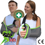 Arm Sling ADULT(O/S) REGULAR style VELOUR/Lime Trim by 4DflexiSPORT®