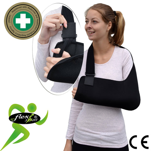 Black Arm Sling ADULT REGULAR style by 4DflexiSPORT®