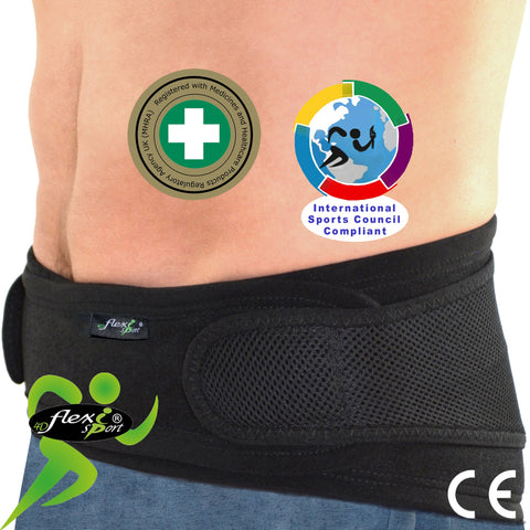 Lumbar Belt with pouch/MODERATE SUPPORT (4Colours/NO STAYS) by 4DflexiSPORT®