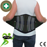 Lumbar Lower Back Belt-Broad Fit Max Support (PLASTIC STAYS) by 4DflexiSPORT®