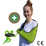 Lime green Arm Sling ADULT REGULAR style by 4DflexiSPORT®