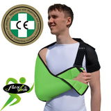 ADULT LIMEArm Sling, NECK PAIN PREVENTION DESIGN by 4DflexiSPORT®