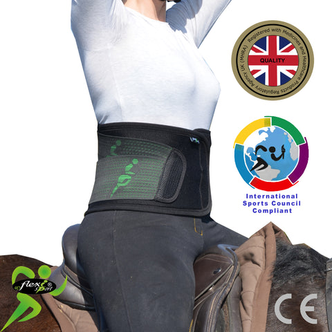 Rider 'EquiBelt' Lower Back MAXIMUM Support (RUNNING MAN side-pulls) by 4DflexiSPORT®