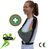 Arm Sling ADULT One-size BASIC & ARM-LOCK WAIST-STRAP  'Sporty' by 4DflexiSPORT®