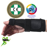 BASE of Thumb Support with PLASTIC SPLINT & Wrist Brace by 4DflexiSPORT®